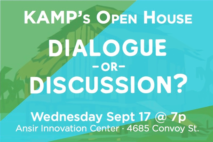 KAMP's Open House: Discussion orDialogue?
