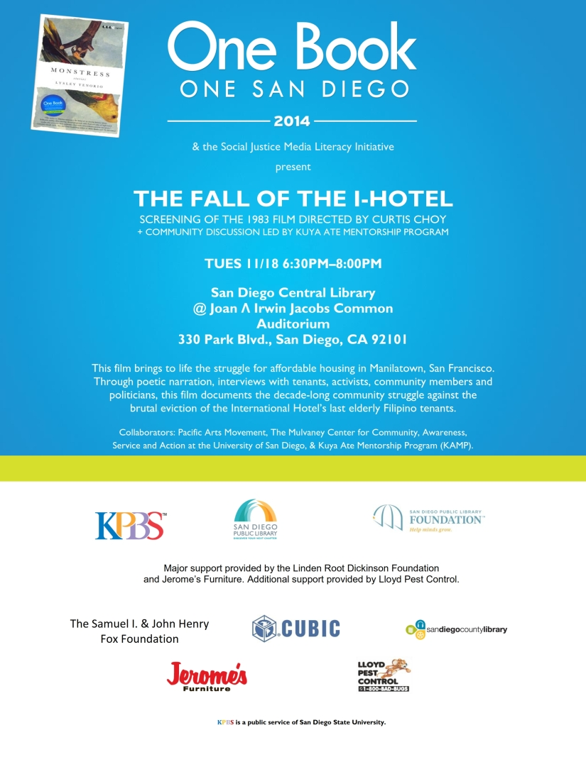"Educational Dialogue: ""Fall of The I-Hotel""Screening"