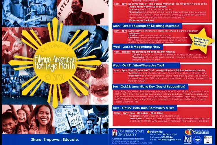 KAMP Educational Dialogue @ SDSU Wed 10/216-8pm