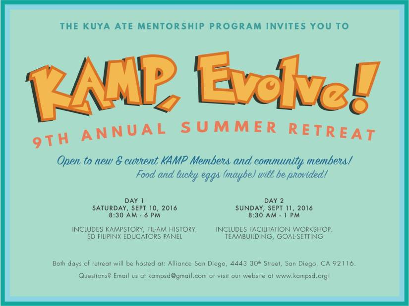 KAMP Summer Retreat Sept 10-11